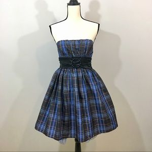 Candie's Plaid Empire Waist Dress